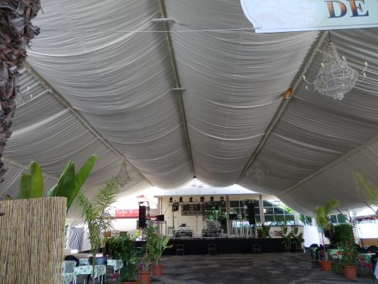 decoracion carpa poligonal