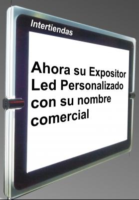 cartel escaparate con led economico