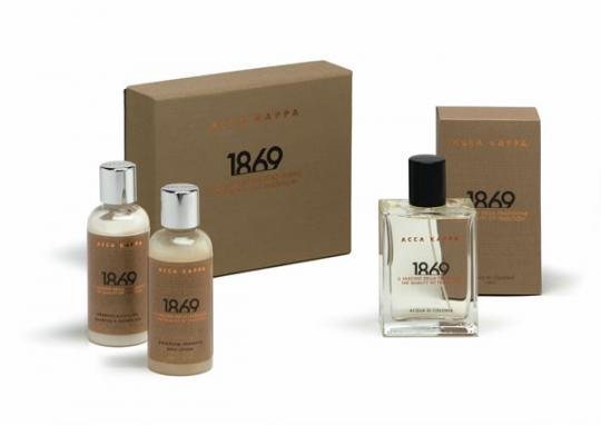 Pack gift Acca Kappa 1869 perfume, shampoo gel, body lotion