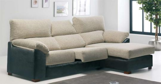 SOFA CHAISSELONGUE EXTENSIBLE Y RECLINABLE
