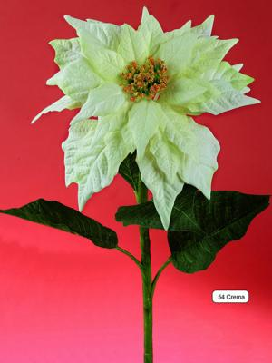 Ponsetias artificiales de calidad. Poinsettia artificial crema oasisdecor.com