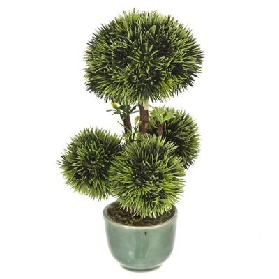 Plantas artificiales. Bonsai artificial topiary 4 bolas 18 en lallimona.com