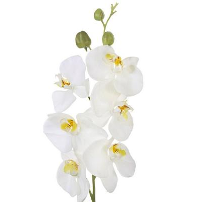 Flores artificiales rama orquideas artificiales crema con for Orquideas artificiales