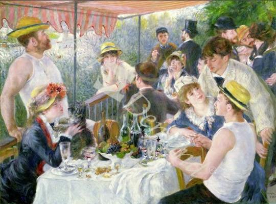 l�minas y lienzos de  The Luncheon of the Boating Party, 1881 (oil on canvas)