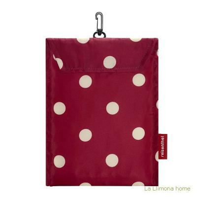 Reisenthel bolsa multiusos mini maxi shopper ruby dots 1 - La Llimona