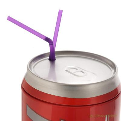 Gifts. Dispensador de pajitas cool straws rojo 1 - La Llimona