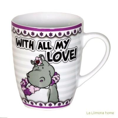 Nici tazas. Nici fancy mug With all my love - La Llimona