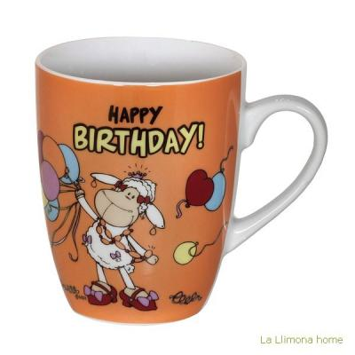 Nici tazas. Nici fancy mug Happy Birthday - La Llimona