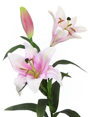Flores artificiales Flor lilium artificial rosa Oasis Decor