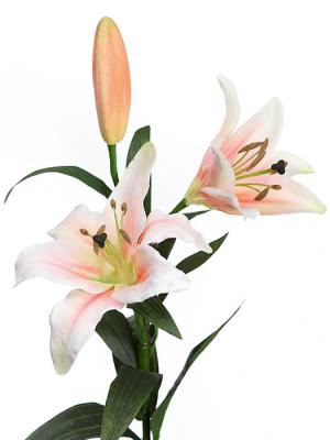 Flores artificiales Flor lilium artificial salmon Oasis Decor