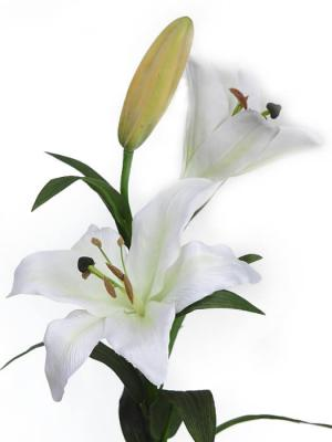 Flores artificiales Flor lilium artificial blanco Oasis Decor