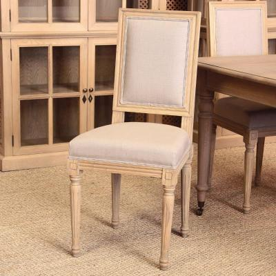 Silla Charpentier Roble Natural y Lino